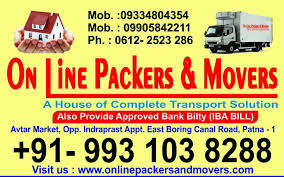 On Line Packers & Movers Patna